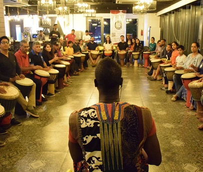 djembe drum lessons with taal Inc
