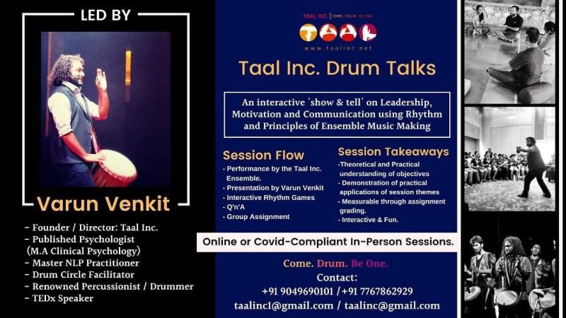 Drum Talks By Varun Venkit